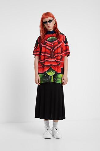T-shirt oversize fleur
