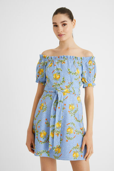Robe courte citrons | Desigual