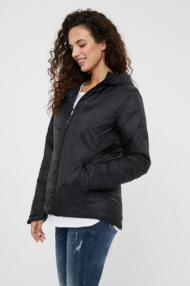Iridescent padded jacket | Desigual
