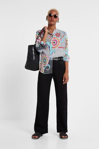 Camisa mosaico flores