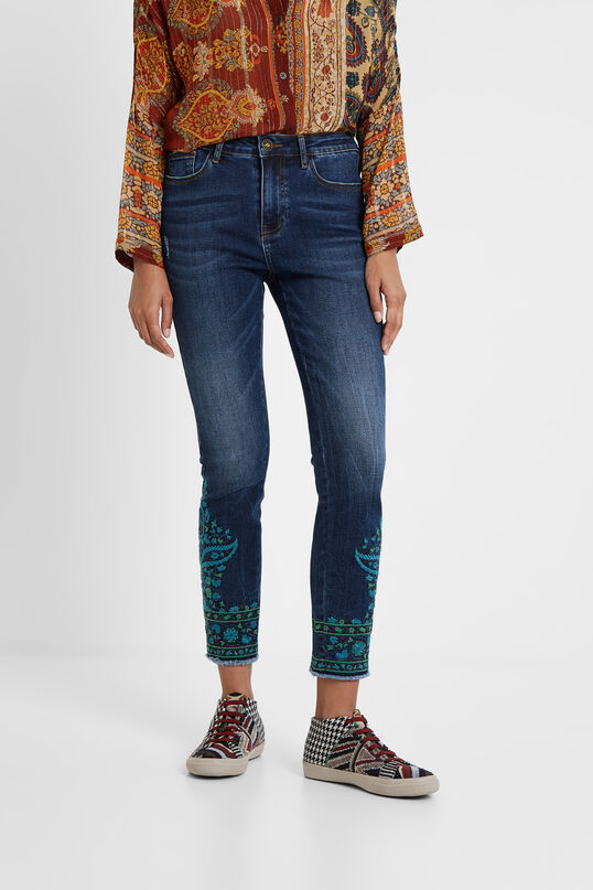 Denim skinny trousers | Desigual