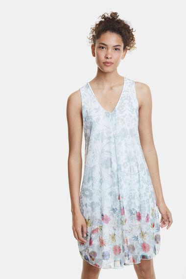 Double floral print dress
