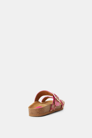 Sandals cork sole embroidered straps | Desigual