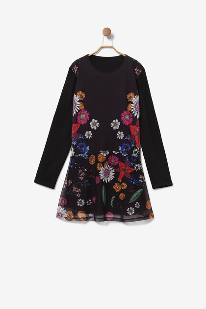 Multilayer floral dress