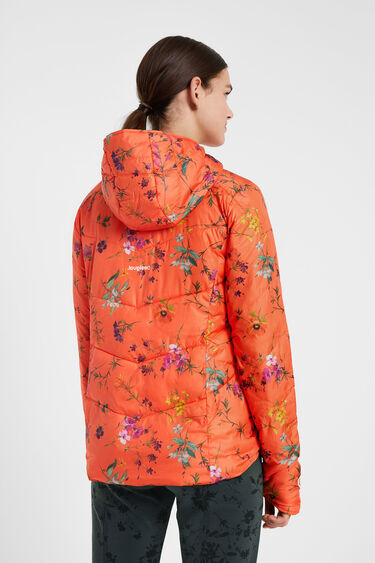 Reversible and folding floral jacket | Desigual