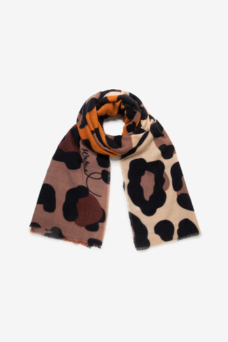 Multicolour animal print scarf