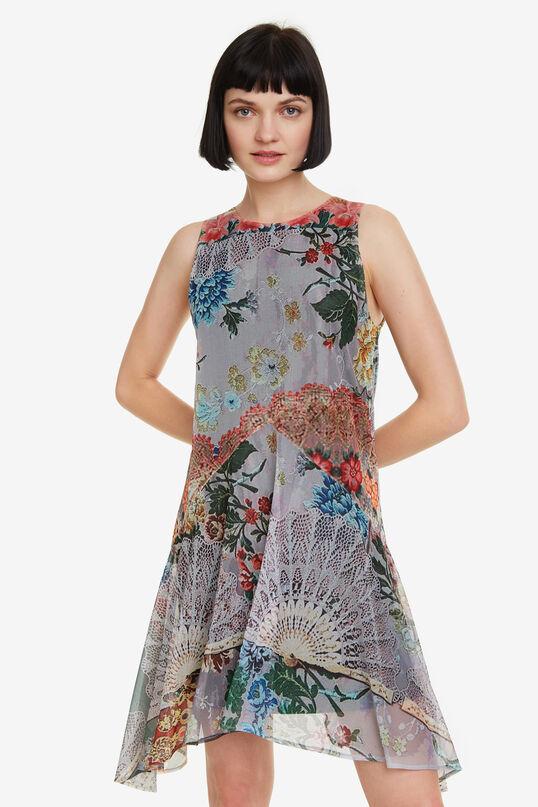 Floral hanky-hem mini dress Lucille   Desigual
