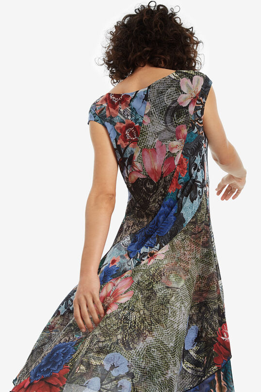 Robe asymétrique florale Karuka | Desigual