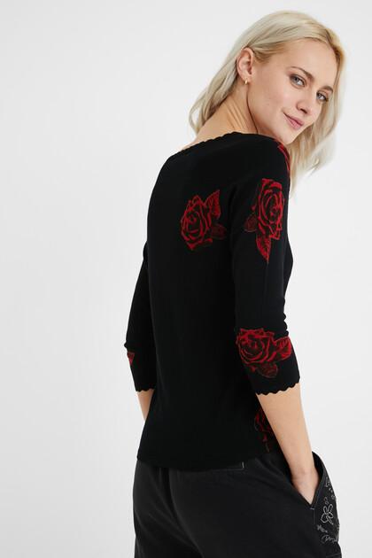 Pullover V-Ausschnitt Bänder