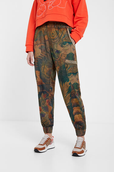 Long floral cargo trousers | Desigual