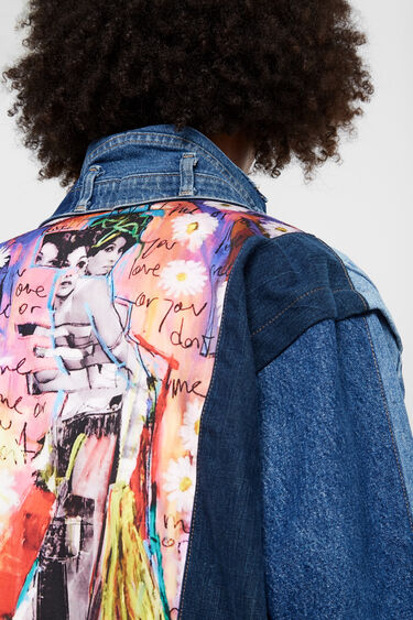 "Iconic jacket ""You love me, you don't love me"" 
