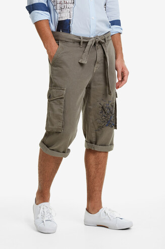 Khakigrüne Cargo-Shorts Eric