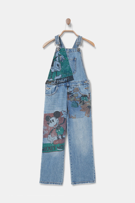Salopette en jean longue illustration - BLUE - 5/6 - Desigual - Modalova