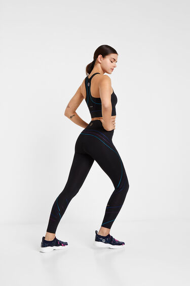 Leggings push-up with stripes | Desigual