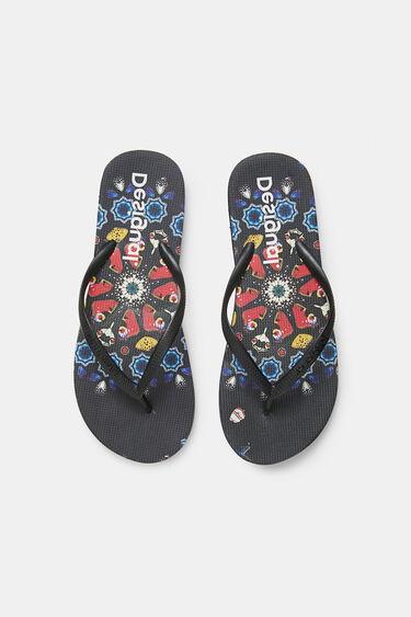 Bathing flip-flops printed sole | Desigual