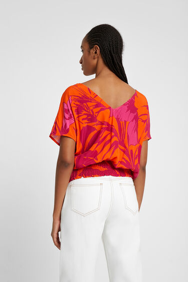 Blouse with floral print | Desigual