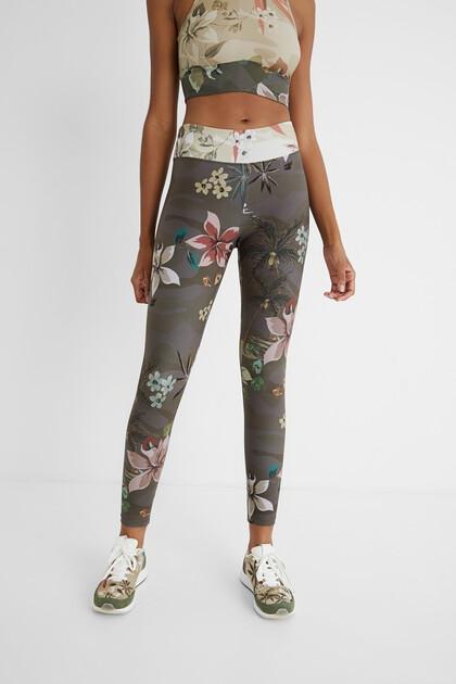 Print leggings elastic waist