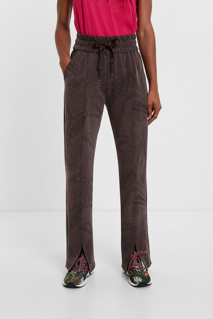 Pantalon confort imprimé jungle