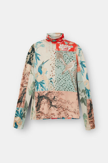 T-shirt slim patch digital | Desigual