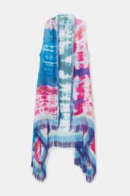 Long vest cotton tie dye   Desigual