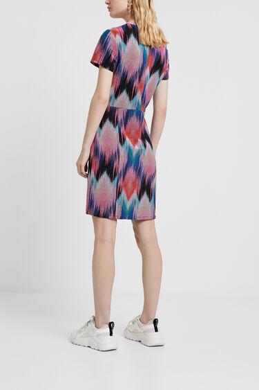 Arty jurk met psychedelische ruiten | Desigual