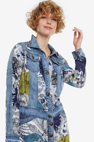 Denim jacket with viscose Gisela