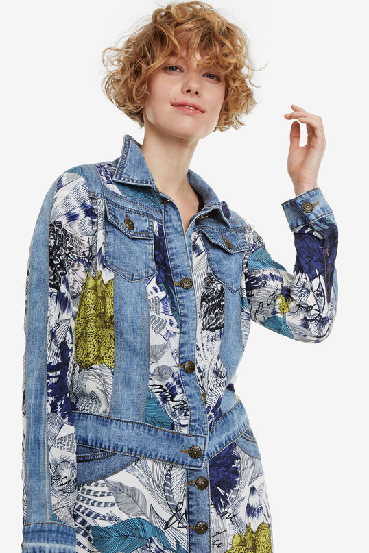 Veste en jean et viscose Gisela | Desigual