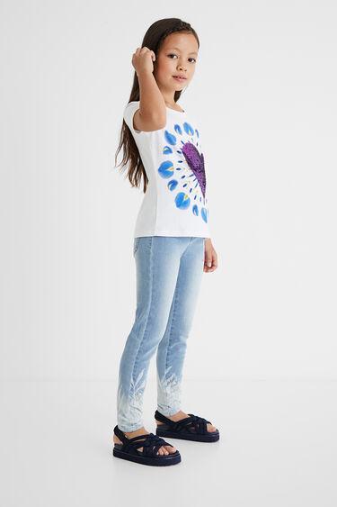 T-shirt boho print heart | Desigual