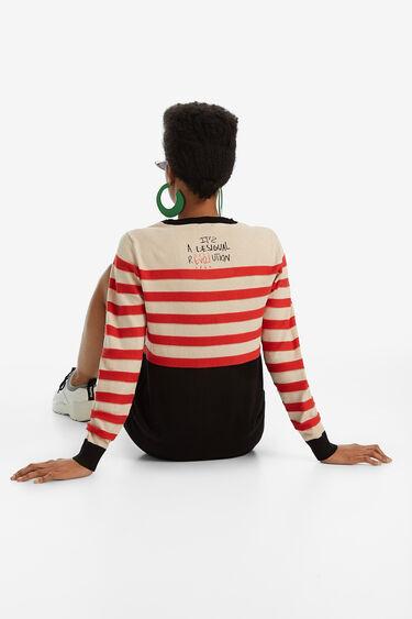 Round-neck striped jumper | Desigual