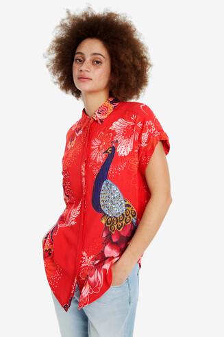 Shirt with Short Turn-up Sleeves Inaya