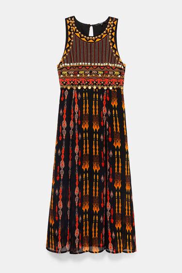 Robe mi-longue style africain | Desigual