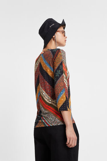 Boho T-shirt autumn colours | Desigual