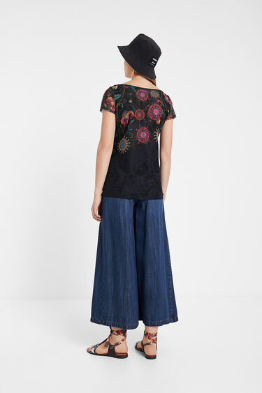 Multilayer floral T-shirt | Desigual