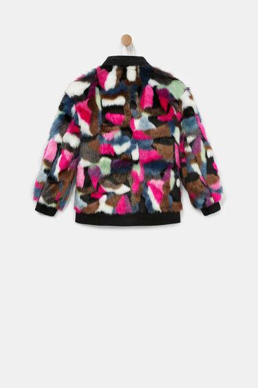 Soft fur trucker jacket   Desigual