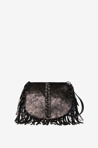 Crescent bag fringe