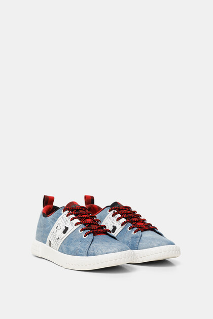 Snoopy denim sneakers