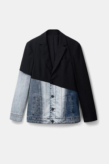 Bimaterial denim blazer | Desigual