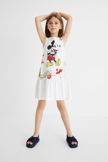 Mickey Mouse cotton dress | Desigual