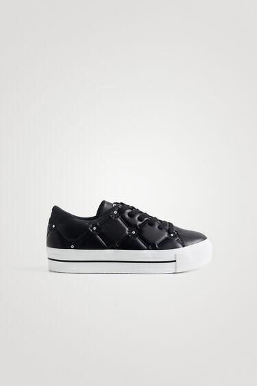 Sneakers simili cuir broderie petits sequins | Desigual