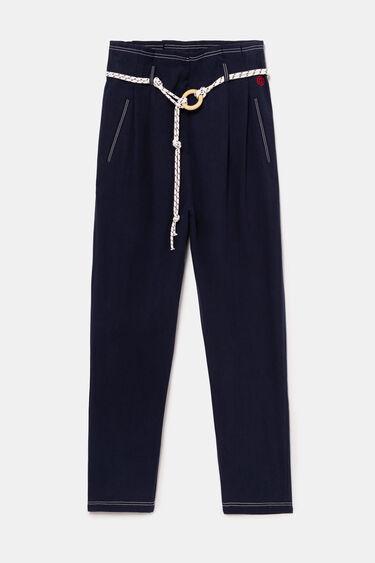 Obszerne spodnie z troczkiem ściągającym | Desigual