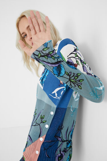 Fijngebreide trui met knopen aan de zijkant | Desigual