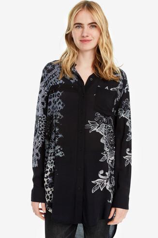 Black Shirt with Mandalas Amandine