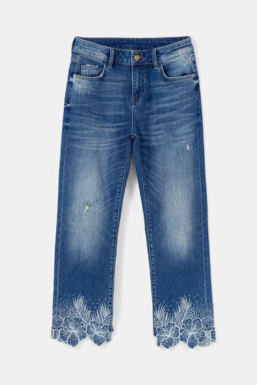Pantalon en jean straight cropped | Desigual