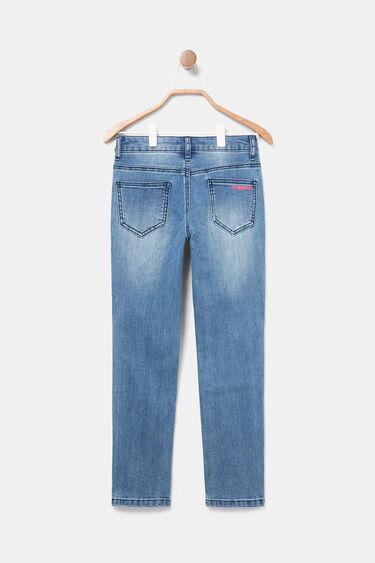 Pantalon slim vaquero lentejuelas | Desigual