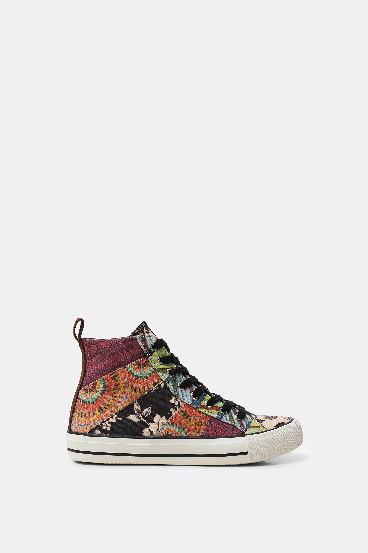 High top canvas sneakers | Desigual.com