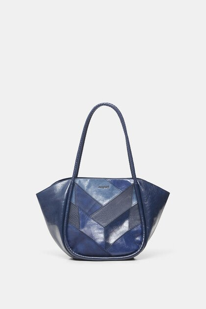 Mosaic leather-effect bag