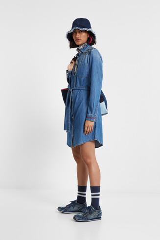 Robe chemise jean