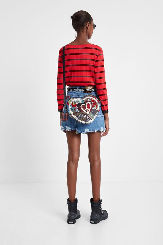 Striped heart T-shirt | Desigual