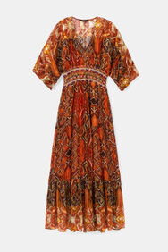 Robe à frises africaines | Desigual