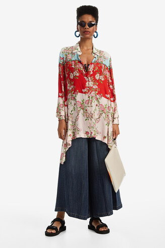 Asymmetric longline shirt